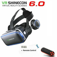 3D VR Glasses Headset for iPhone X/8 Virtual Reality Goggles + Remote Controller