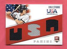 2015 Cole Stobbe Panini USA Baseball Rookie Triple Jersey /99 - Phillies