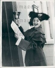 1959 Happy Ballet Dancer Carla Fracci With Town Crier Bell  Press Photo