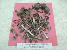 02 03 KAWASAKI PRAIRIE KVF650 KVF 650 4X4 FRAME BOLTS MISCELLANEOUS NUTS PARTS C