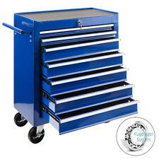Chariot d'atelier Arebos Chariot à outils à 7 compartiments bleu