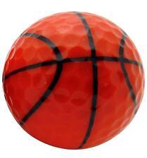 Basketball Design Novelty Golf Ball Perfect Fun Golfing Gag Gift for Golfer Dad