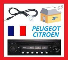 Cable auxiliaire aux 3.5mm prise output autoradio pour Citroen Peugeot 407 etc