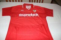 "Camiseta OFICIAL SEVILLA FC 1996-97 Away UMBRO Talla ""XL"" 3 Manolo JIMENEZ"