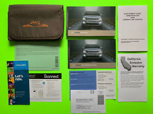 2018 Jeep COMPASS Factory Owner Manual User Guide Set & Case *OEM*