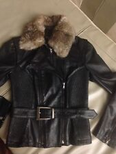 Patrizia Pepe Leather Jacket Size 42
