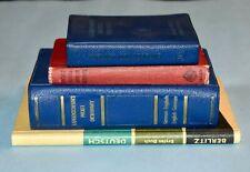 Lot GERMAN-ENGLISH DICTIONARY Pocket Size Oxford Langenscheidts Berlitz 1st Book