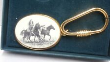 Barlow Key Ring Fob - Cowboy with Horses - New in Box - d2d