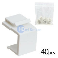 40x Snap-in Keystone for Wall Plate Blank Insert White