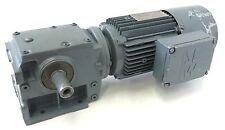 SEW S40 Elektrogetriebemotor Getriebemotor Bremse 2-Stf 9,5U 40,8U 0,6kW UNUSED