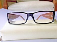 Bluemarine Eyeglasses  Brown Black Patterned Bows Made in Italy with case