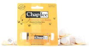 6 Chap Ice Beeswax Lip Balm Vitamin E Aloe Vera Cool Mint All Natural 0.15 oz