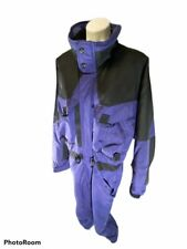 VINTAGE 80s 90s Mens Black CORNICE One Piece Retro SKI SUIT Snow Bib Snowsuit XL