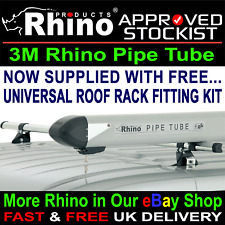 Rhino 3 Metre Locking Van Pipe Tube Carrier Roof Rack Vauxhall Vivaro 2014-2018