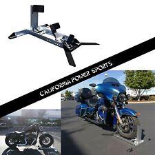 Motorcycle Adjustable Wheel Chock Floor Bike Stand Truck Bed Floor Tie Down Hook