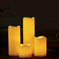 4-Taille Lampe Bougie à LED Pile Vacillant Sans Flamme Fête Mariage Noël