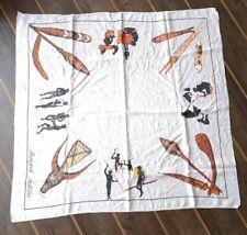 Vintage Aboriginal Australia Linen Tablecloth