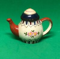 Mini Ceramic Teapot Hinged Trinket Box Blue Red White Pink Floral Design