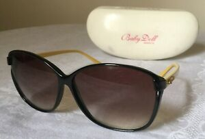 Rare Retro Marc Jacobs Sunglasses Marcs Baby Doll Brown Frames with Yellow Arms