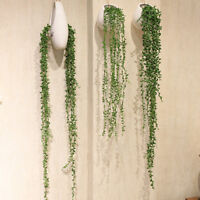 Artificial Plastic Green Vines Flower Hanging Plant Home Party Office Wall Decor