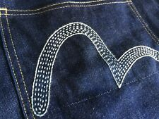 Evisu Japan 2000 No.2 Raw Denim 36X34 Rigid Jeans Selvedge Classic Straight Raw