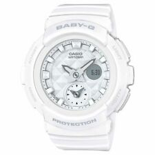 Casio Baby-G BGA195-7A World Time Quartz Analog-Digital White Resin 44.5mm Watch