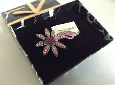 BRIDAL/MOTHER OF THE BRIDE PINK FLOWER DESIGN BROOCH - BOXED