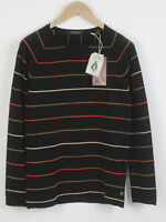 RRP €79 SCOTCH & SODA Men's SMALL Soft Cashmere Blend Black Raglan Sweater 4944*