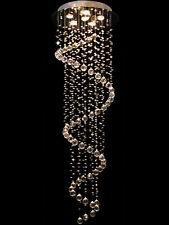 Moderne 156cm K9 Cristal Hélix Plafonniers Lustres Plafond Lampe