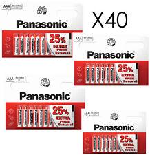 40 x AAA Genuine PANASONIC Zinc Carbon Batteries - New LR03 1.5V MN2400 02/2021