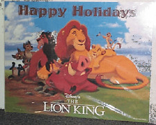 "LION KING ~ ""HOLIDAY GREETINGS"" DISNEY CHRISTMAS POSTER BRAND NEW COND., ROLLED"