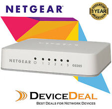 NETGEAR GS205 5 Port Fast Ethernet Unmanaged Gigabit Switch