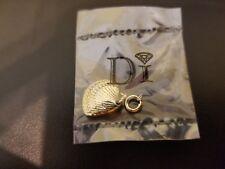 NIP Diamonds International Grand Turk Sea Shell Gold Tone Charm