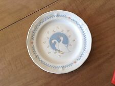 """MOONLIGHT STONEWARE GOOSE GEESE 7 1/2"""" BREAD/BUTTER PLATE THAILAND"""