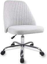 Modern Desk Fabric Home Office Chair Twill Mid-Back Task Armless Chair Stools