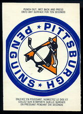 1973 74 OPC O PEE CHEE PITTSBURGH PENGUINS TEAM LOGO CARD NM WITH INSTRUCTION