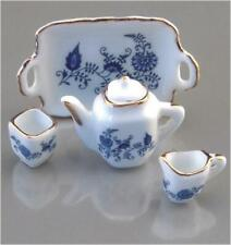 Blue Onion Tea Set Reutter Porcelain 1:12 Scale Made in Germany