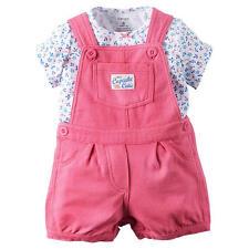"Carter's 2 Piece ""Little Cupcake Cutie"" Overall & Top Baby Girl 12M MSRP:$28"