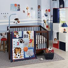 Future All Star Bedding Crib Set Lambs Ivy Baby Boy Nursery Sports Animals New