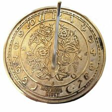More details for morning glory circular brass sundial