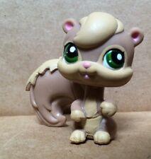 Littlest Pet Shop #1372 Brown & Tan Squirrel w/ Green Eyes EUC