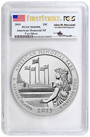 2019 Memorial Park 5 oz Silver ATB Coin PCGS MS69 PL FS Mercanti Signed SKU57706