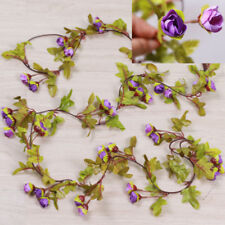 Cute 7Ft Artificial Fake Silk Rose Flower Hanging Garland Garden Wedding Decor