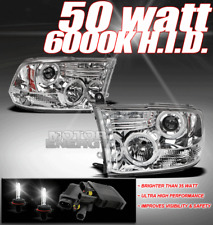 09-17 DODGE RAM DRL LED HALO PROJECTOR HEADLIGHTS+HID 50W XENON 1500 2500 3500