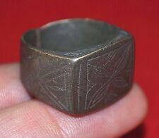 Antique African Tuareg Tribal Metal Ring Niger, Africa Ring Size 9 1/2