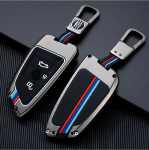 Car Key Fob Remote Shell Case Cover +Auto Keyring Key Chain for BMW 5 3 Series
