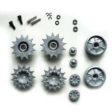 Torro Sherman 1/16  Metal Driving Wheels & Idlers with Bearings Fit Heng Long UK