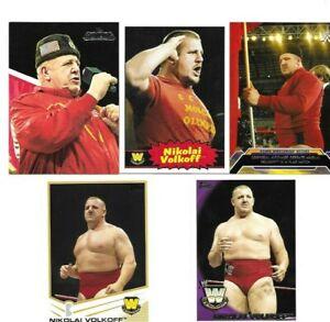 TOPPS WWE WCW BORN IN SPLIT CROATIA 5 NIKOLAI VOLKOFF WRESTLING CARDS