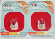 Elmer's Freestyle Reusable and Repositionable Adhesive Hook - 2 Pieces -Red NIP