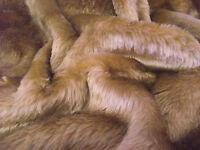 SHORT PLUSH Care Bear Faux Fur Fabric CAMEL BROWN